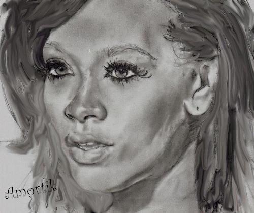 Rihanna par Amortik